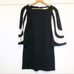 Trina Turk 60's Bell Sleeve Sheath Dress
